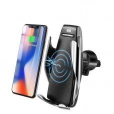 Автомобильная зарядка держатель smart sensor car wireless S5