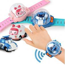 Игровой набор Поли Робокар Часы с мини машинкой на ДУ
