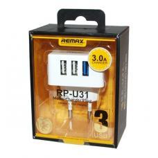 Сетевое зарядное устройство 3USB Remax RP-U31