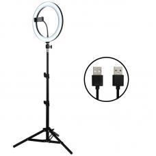 Светодиодный кольцевой светильник для селфи 26 см