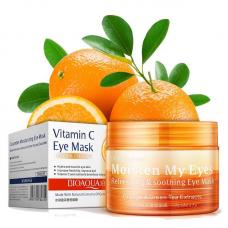 Патчи BioAqua Moisten My Eyes Orange & Green tea extracts