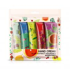 Набор парфюмированных кремов для рук BioAqua Hand Cream Plant Extract 5 шт оптом