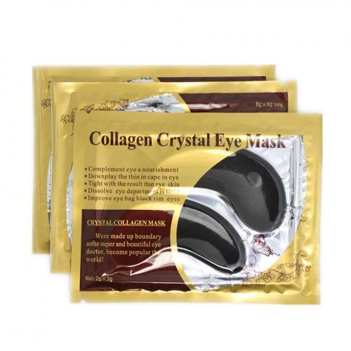 Маска под глаза черная collagen crystal eye mask