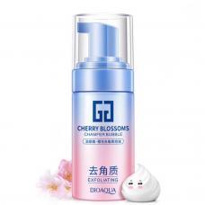 Отшелушивающий мусс для лица Bioaqua Cherry Blossoms с экстрактом сакуры (скатка) 120 мл