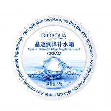 Увлажняющий крем-гель для лица Bioaqua Crystal Through Moist Replenishment с гиалуроновой кислотой 38 г