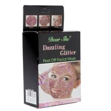 Маска для лица Dear She Peel Off Facial Mask Glitter розовое золото 10 шт