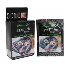 Маска для лица Dear She Star Mask Luxurious Glitter Mask черная 10 шт