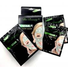 Маска для лица Do Beauty Star Glow Mask Oil Control зеленая 10 шт оптом