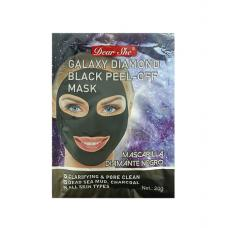 Маска-пилинг для лица Dear She Galaxy Diamond Black Peel-Off Mask 10 шт
