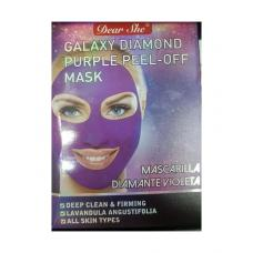 Маска-пилинг для лица Dear She Galaxy Diamond Purple Peel-Off Mask 10 шт