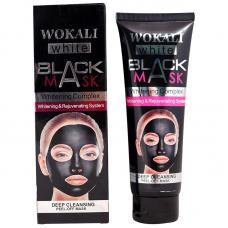 Отшелушивающая черная маска-пленка Wokali Black Mask White для очищения пор 130 г