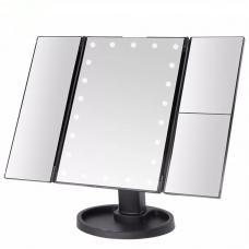 Зеркало косметическое трёхстворчатое с увеличением и подсветкой Superstar оптом