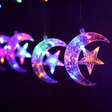 Гирлянда-штора Месяц со звездами