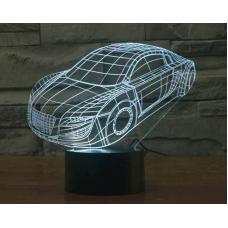 3D LED Светильник Машина оптом