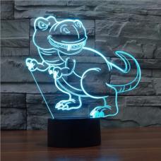 3D Светильник семицветный Динозавр оптом