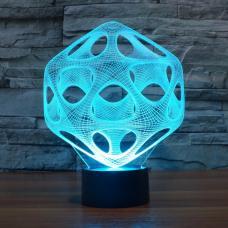 3D Светильник семицветный Оптическая иллюзия оптом