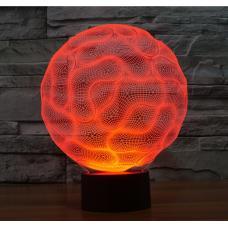 3D Светильник семицветный Сфера оптом