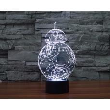 3D Светильник семицветный Звездные Войны Дроид Sphero BB-8 Droid (Star Wars) оптом