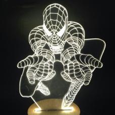 Акриловый 3D светильник Человек-паук (Spider man) оптом