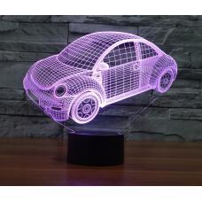 Акриловый 3D светильник Машинка оптом