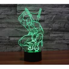 Акриловый 3D светильник Дэдпул оптом