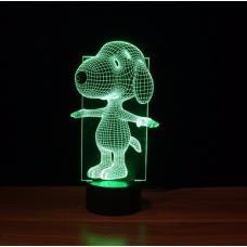 Акриловый 3D светильник Снупи оптом