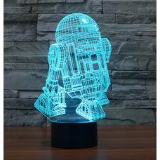 Акриловый 3D светильник Звездные войны R2D2 (Star Wars) оптом