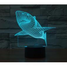 Объемный 3D светильник Акула оптом