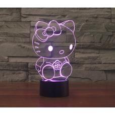 Объемный 3D светильник Hello Kitty оптом