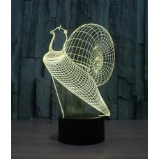 Объемный 3D светильник Улитка оптом