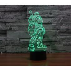Объемный 3D светильник Железный человек 1 (Iron man) оптом