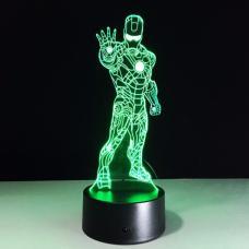 Объемный 3D светильник Железный человек 3 (Iron man) оптом