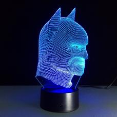 Светодиодный 3D светильник Бэтмен (Batman) оптом