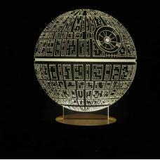 Светодиодный 3D светильник Звезда смерти Star Wars оптом