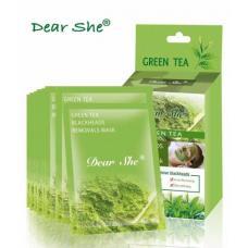 Маска для лица Dear She Green tea 10 шт по 20 г оптом