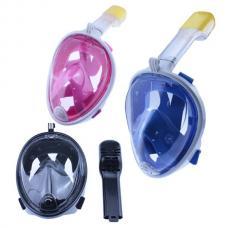 Маска для снорклинга, Полнолицевая маска с трубкой и креплением для GoPro