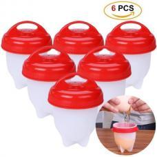 Silicone Egg Boil силиконовые формы для варки яиц без скорлупы, 6 шт