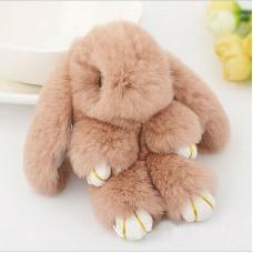 Брелок Кролик 18 см (натуральный мех) оптом