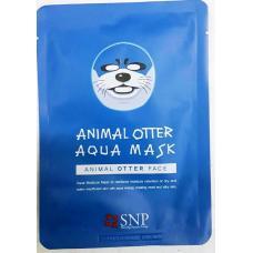 Тканевая увлажняющая маска Animal Otter Aqua Mask 25 мл оптом