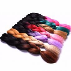 Цветные пряди-косы оптом