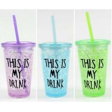 Охлаждающий стакан с трубочкой This Is My Drink 500 мл